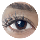 Example of eyelash extensions applied in the Natural Style