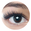 Example of eyelash extensions applied in the Cute Style