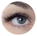 Example of eyelash extensions applied in the Sexy Style