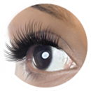 Example of eyelash extensions applied in the Gorgeous Style