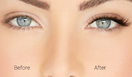 Natural Lashes - Before and After Photograph