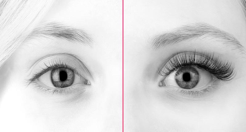Example of Natural Lashes