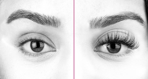 Gorgeous lashes before and after