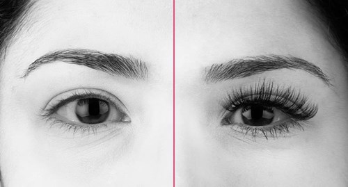 Cute lashes before and after