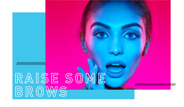 Raise Some Brows Model with Sculpted Brows and Lash Extensions